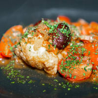 Monkfish with Tomato