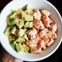 Salmon and avocado quinoa