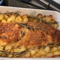 Healthy chicken meatloaf