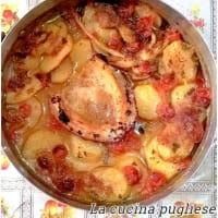 Sepia al Horno Con Tomate Y Patatas