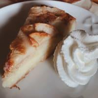 Tarta de manzana cremosa