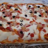 Pizza casera simple ...