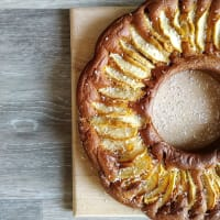 Vegan Apple and Coconut Cake No Yeast