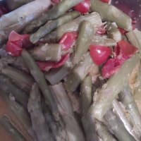 Stir-fried asparagus with lemon scent
