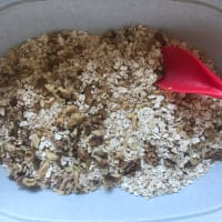 Nutritious oat bars step 2