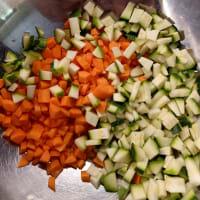 Tagliolini zucchine e carote speziate paso 1