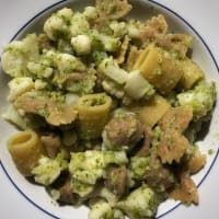 Pasta cavolfiore e crema di zucchine