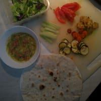 Vegan wrap with tofu and veggies step 7