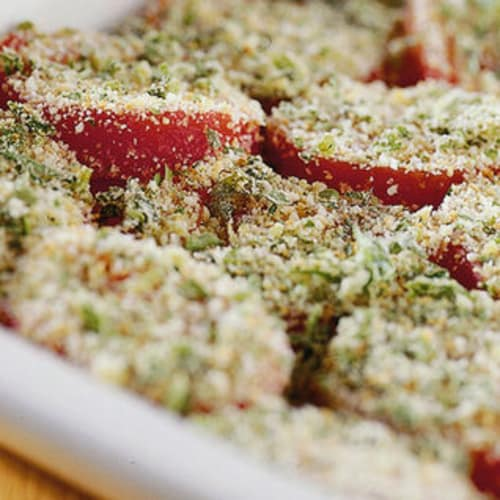 Pasta con tomates asados