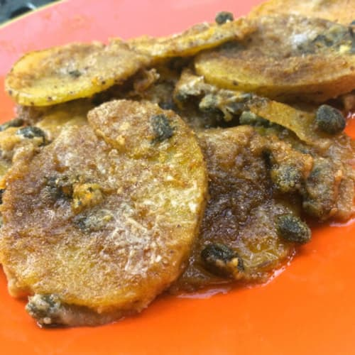 Baked potatoes au gratin