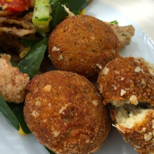 Meatballs mackerel and potatoes