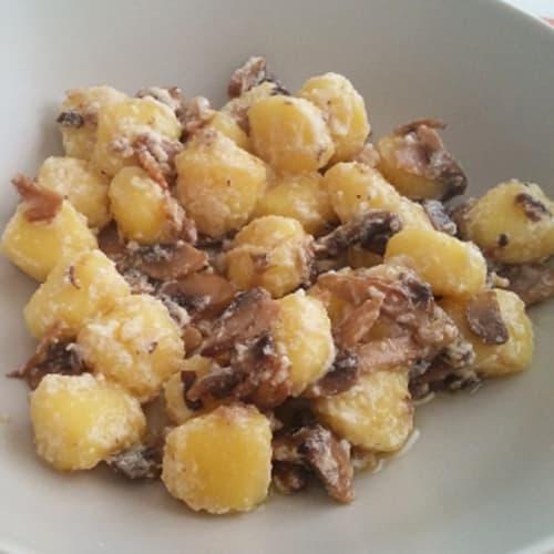 Gnocchi with mushrooms