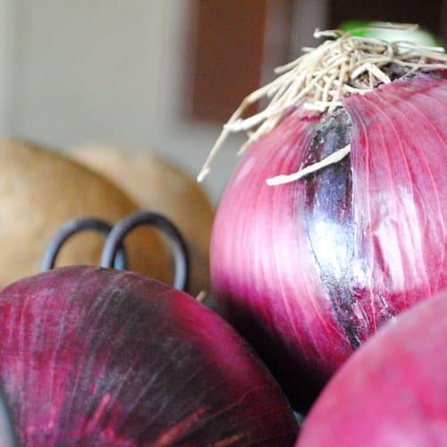 Insalatona vegana di cipolle rosse