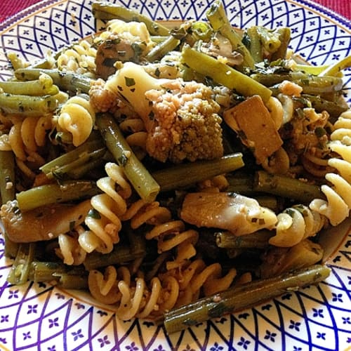 Integral Fusilli with three vegetables