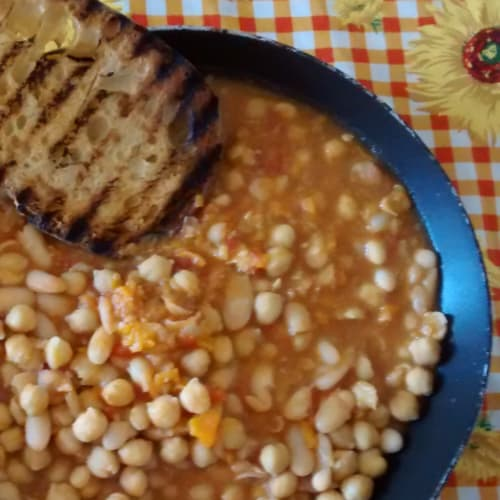 Bean soup with chickpeas