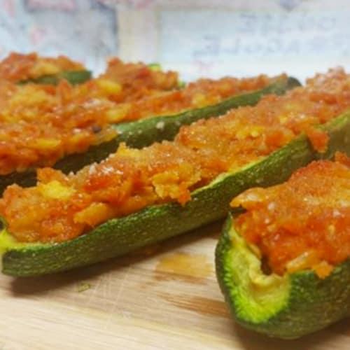 stuffed zucchini with sauce sfincione