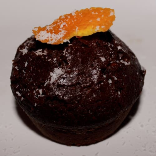 muffin de chocolate y naranja