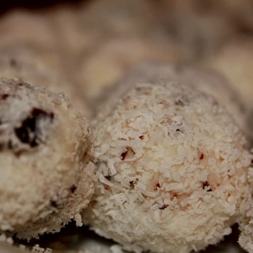 coconut and chocolate balls