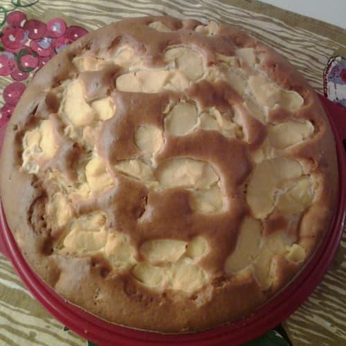 Pastel y las manzanas