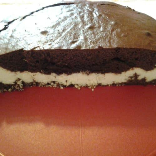 pastel de chocolate y coco
