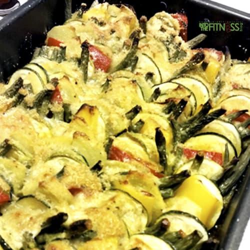Verdure al forno sabbiate