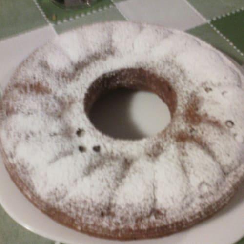 Pastel con trocitos de chocolate y mascarpone