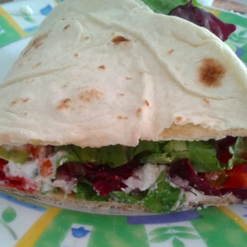 Piadina with ricotta