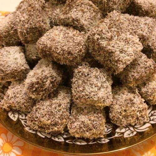 Cubetti di cioccolato e cocco