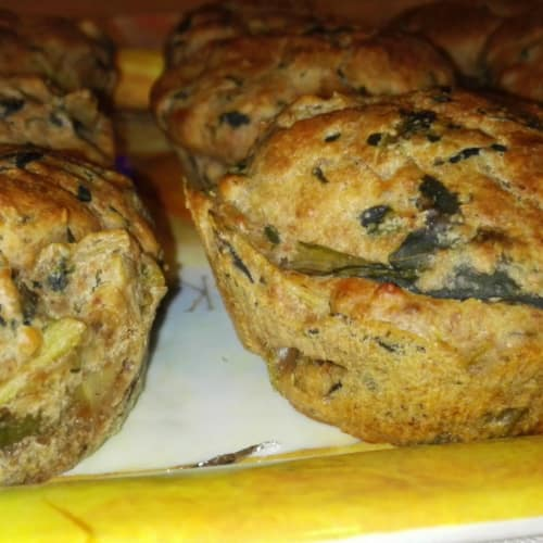 Muffin chard and nuts vegan