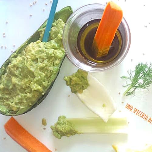 Pinzimonio in avocado salsa