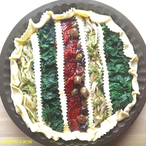 Rainbow Quiche with vegetables