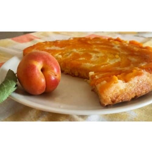 pastel de albaricoque invertida