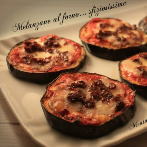 Eggplant offering delicious baked