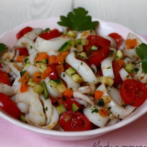Seppie con verdure croccanti