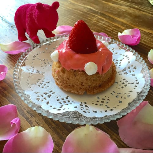 Mini donuts strawberry