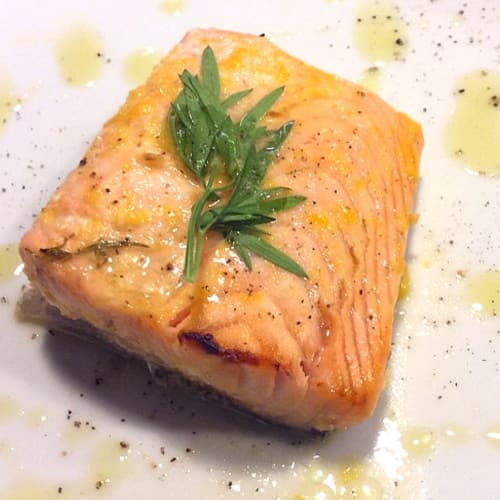 Fillets marinated salmon