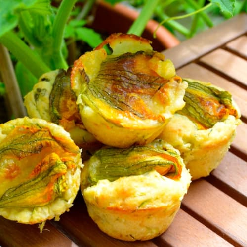 Savory zucchini muffins to all