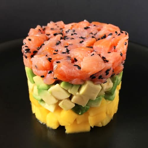 Salmon Tartare with Avocado and Mango