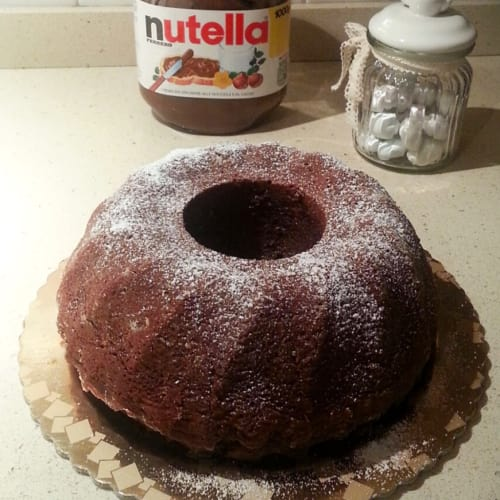 Donut with Nutella without eggs, butter and oil