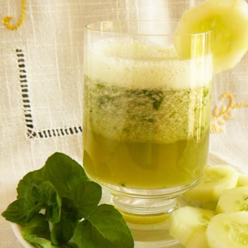 summer cucumber and mint drink