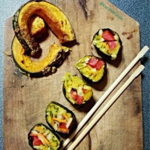 Sushi all'hummus calabaza
