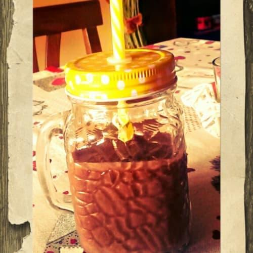 smothie plátano y café helado