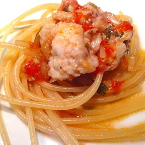 Espaguetis con mullet