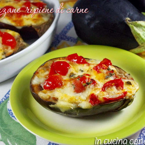 Eggplant stuffed with meat