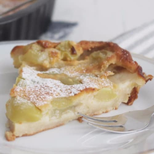 Clafoutis with white grapes