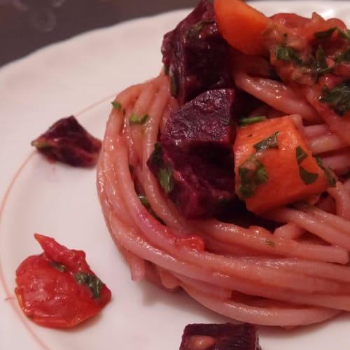 Espagueti vegetariano