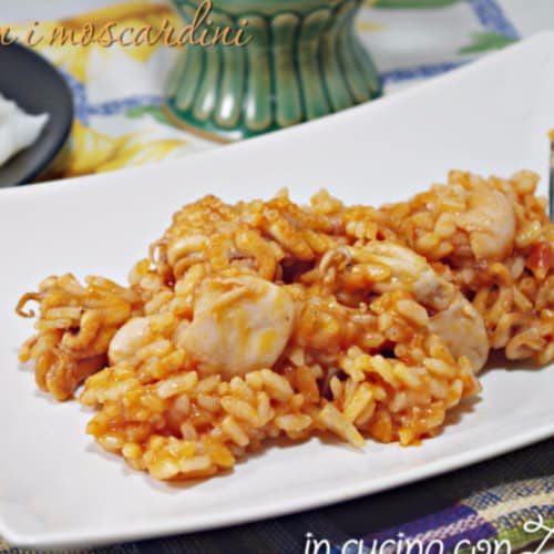 Risotto with squid