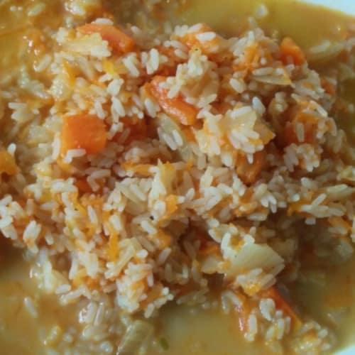 Pumpkin Risotto apart and gorgonzola
