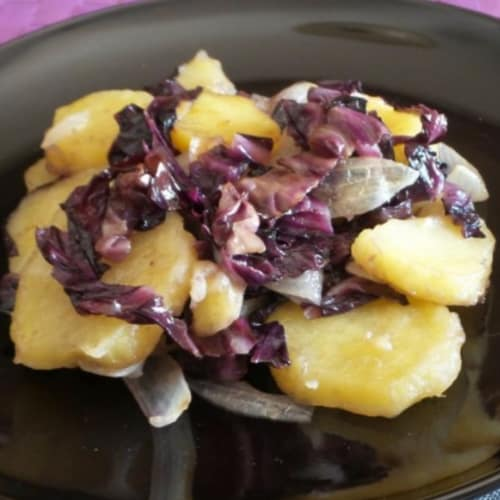 Potatoes and radicchio