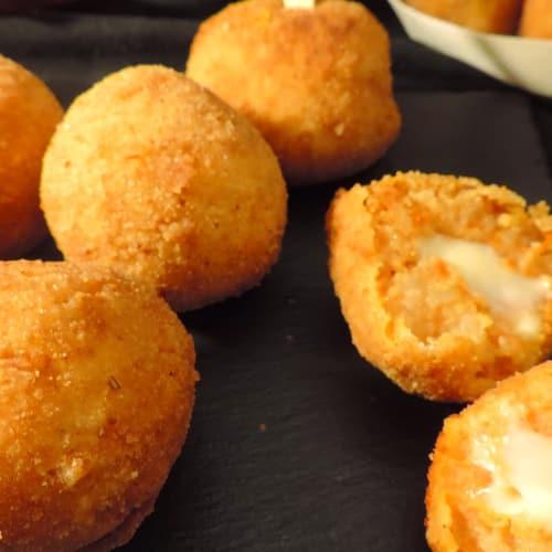 Calabaza y patata croquetas